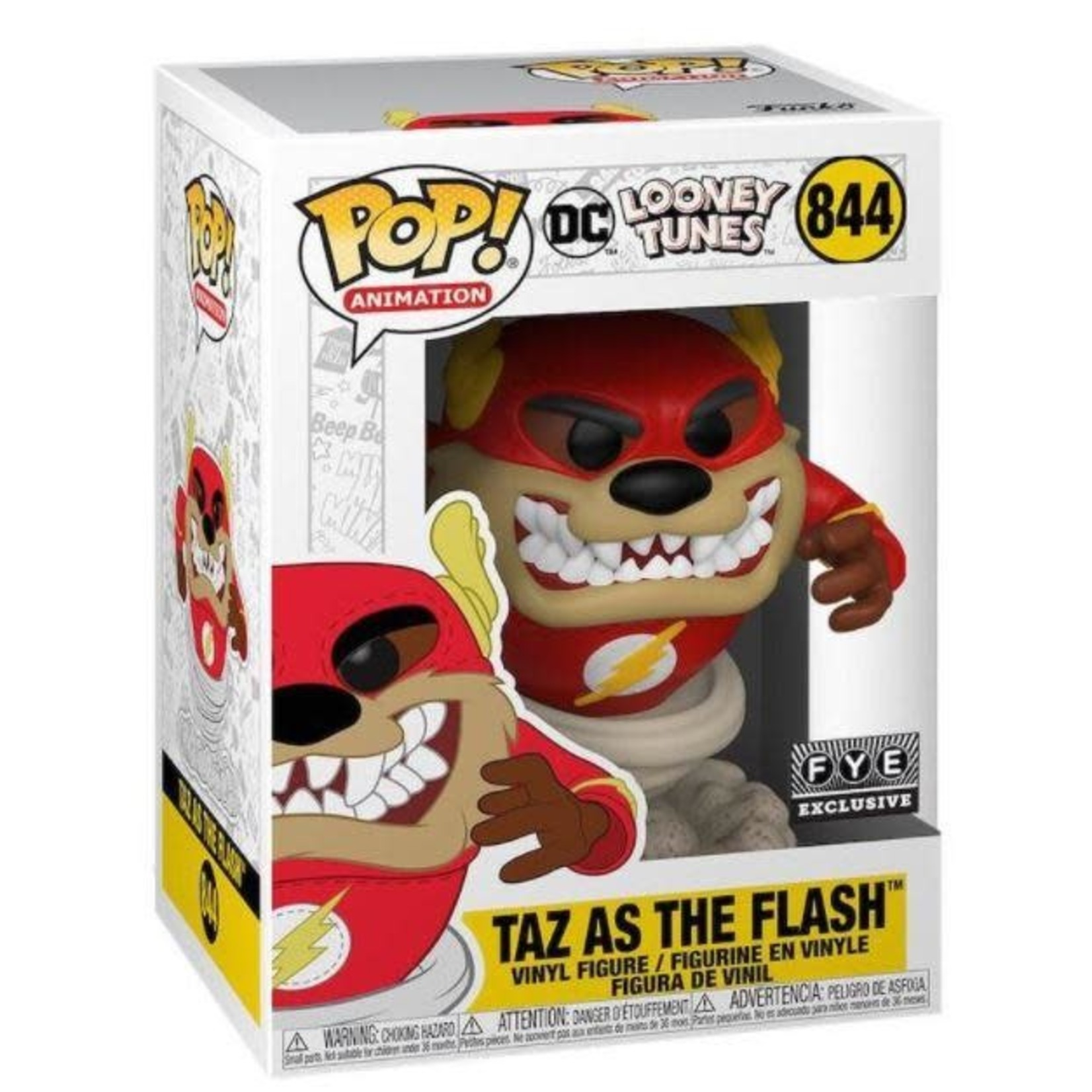 Funko Pop Animation DC Looney Tunes Exclusive - Taz as The Flash #844