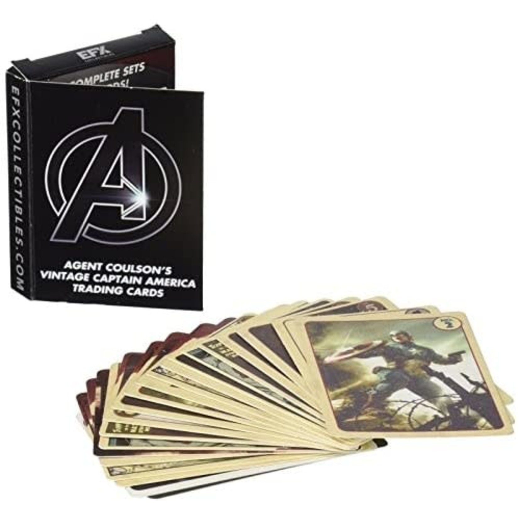 EFX Collectibles - Agent Coulson's Vintage Captain America Trading Cards