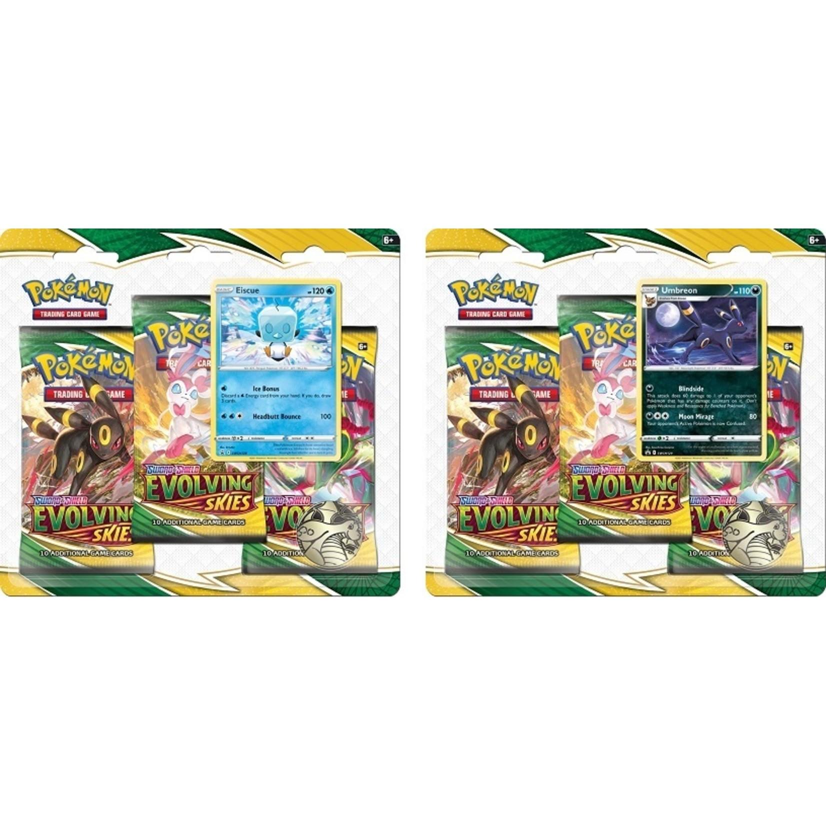 The Pokemon Company Evolving Skies 3-Pack Blister