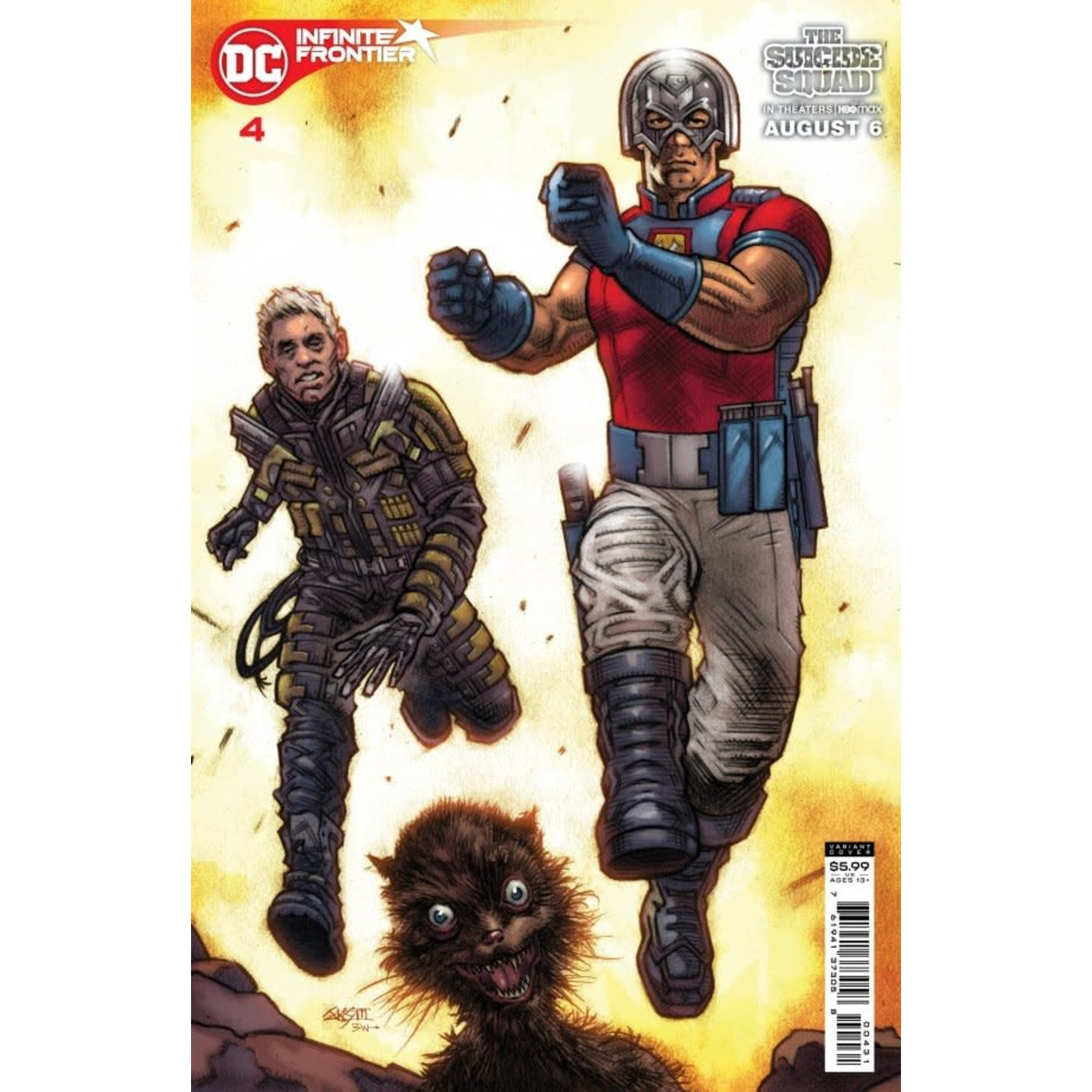 DC Comics Infinite Frontier #4 Cover C Snyder Suicide Squad Movie Card Stock Variant