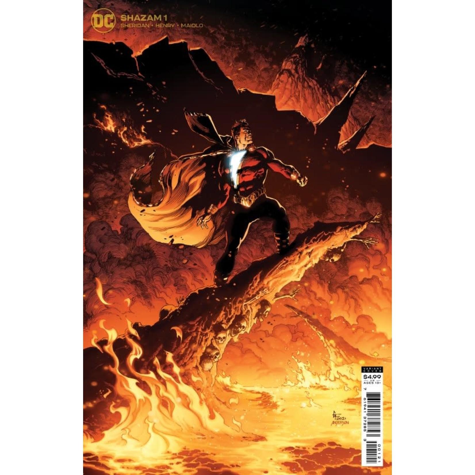 DC Comics Shazam! #1 Card Stock Variant Cover By Gary Frank