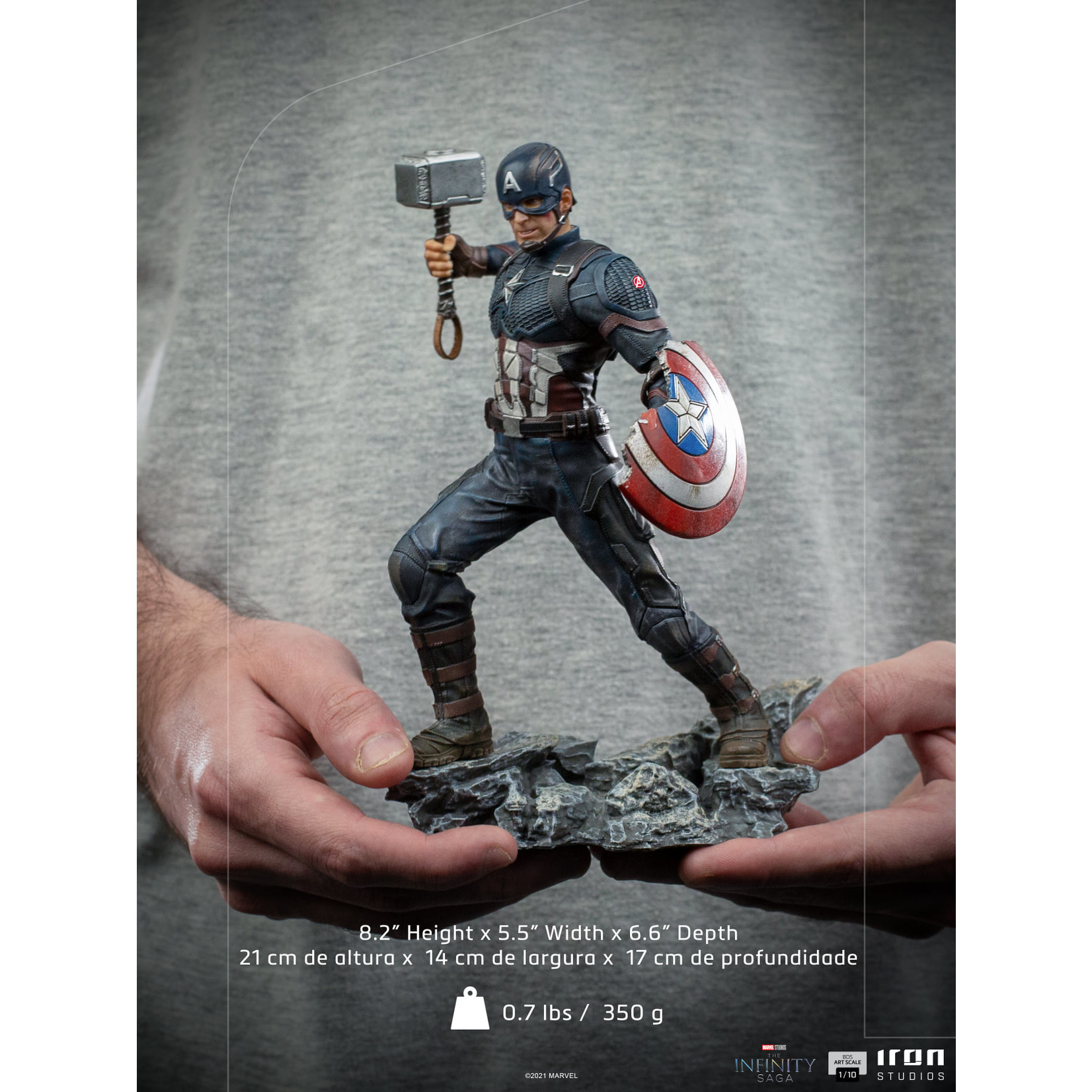 Iron Studios [Preorder] Iron Studios Captain America Ultimate BDS Art Scale 1/10 - The Infinity Saga