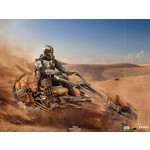 Iron Studios [Precommande] Iron Studios The Mandalorian on Speederbike Deluxe Art Scale 1/10 - The Mandalorian