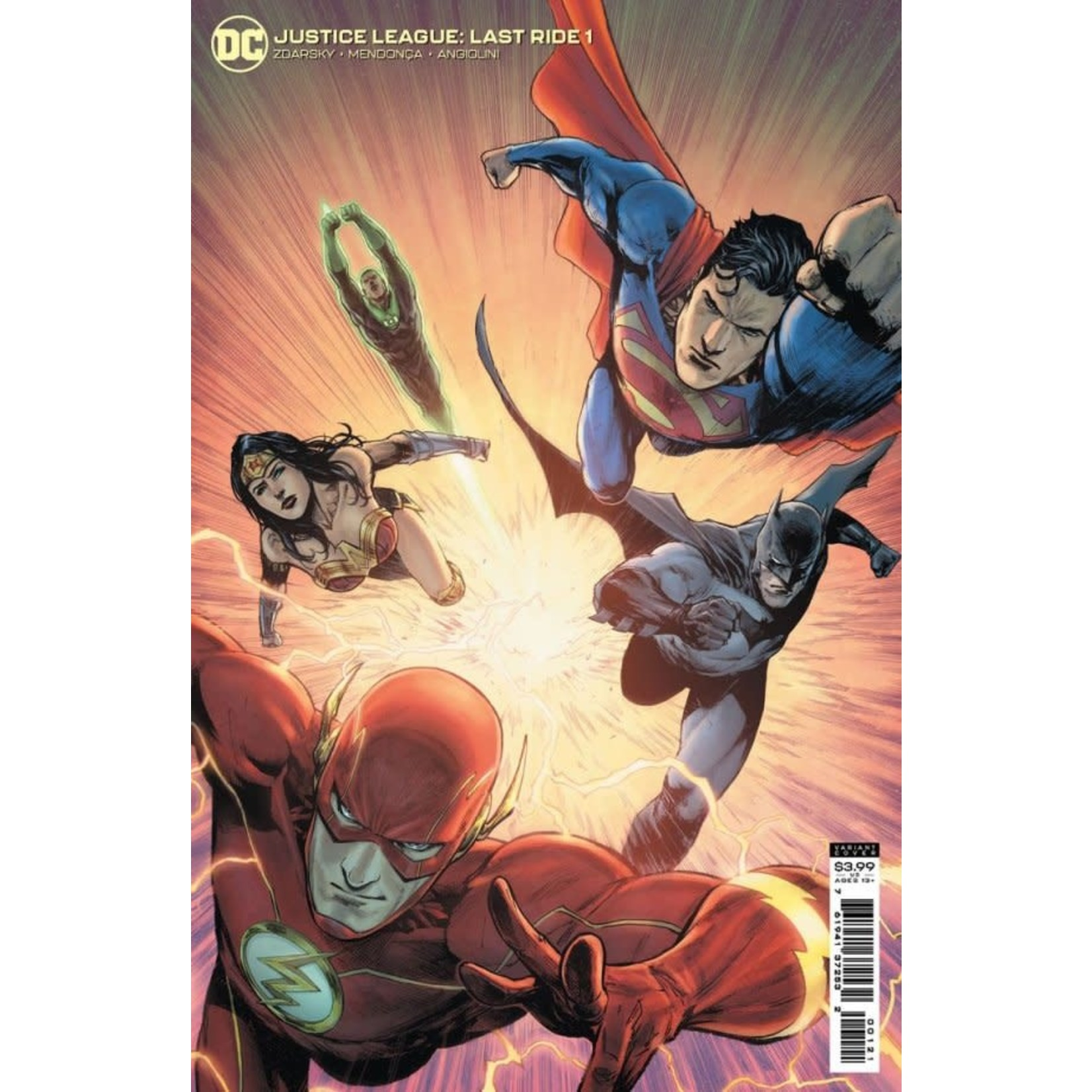 DC Comics Justice League: Last Ride #1 Card Stock Variant Edition