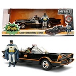 Jada Batman 1966 TV Series Batmobile 1:24 Scale Vehicle with Figures