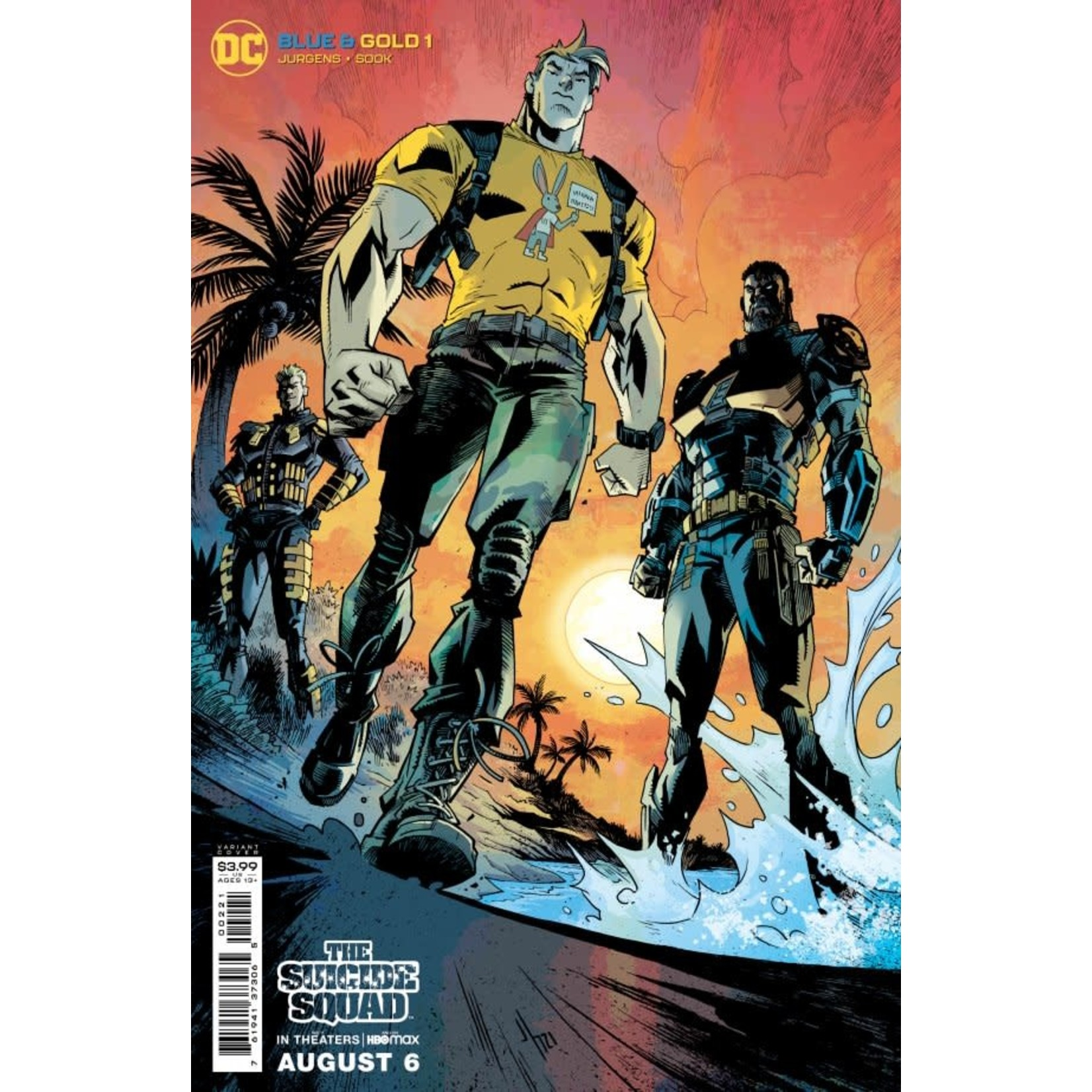 DC Comics Blue & Gold #2 Cover B Howard Suicide Squad Movie Variant