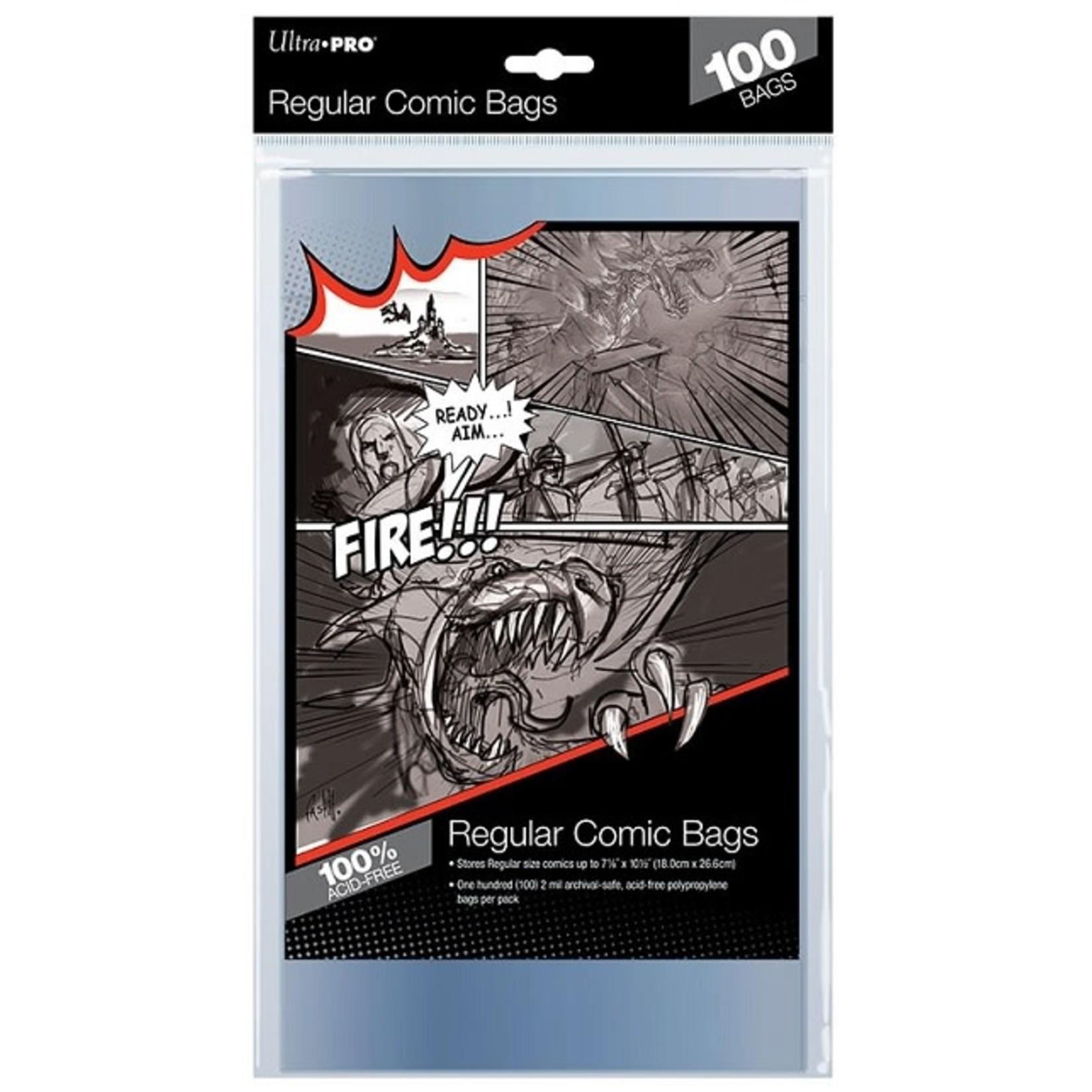 "ultra Pro Regular Size 7-1/8"" X 10-1/2"" Comic Bags"