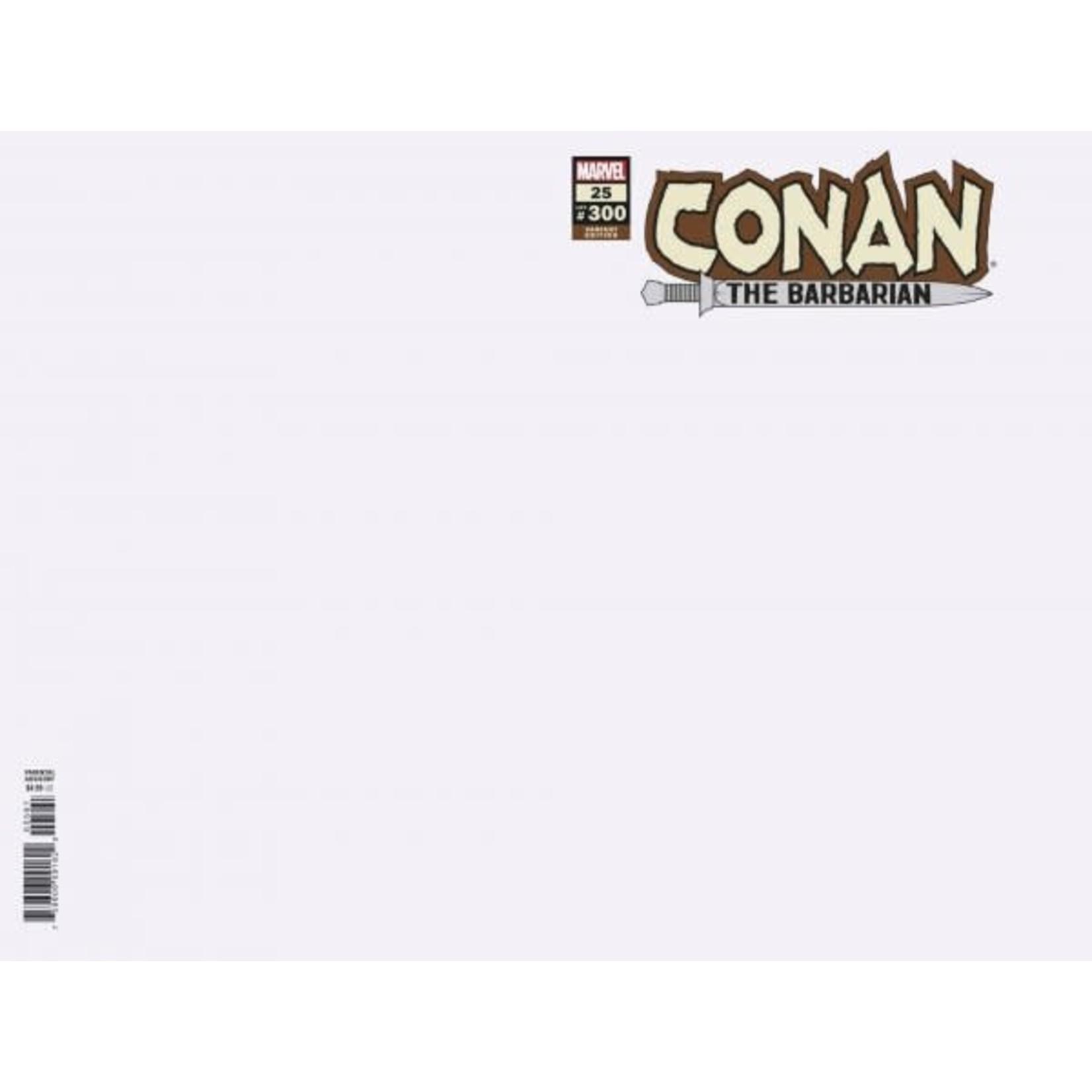 Conan the Barbarian #25 Blank Variant
