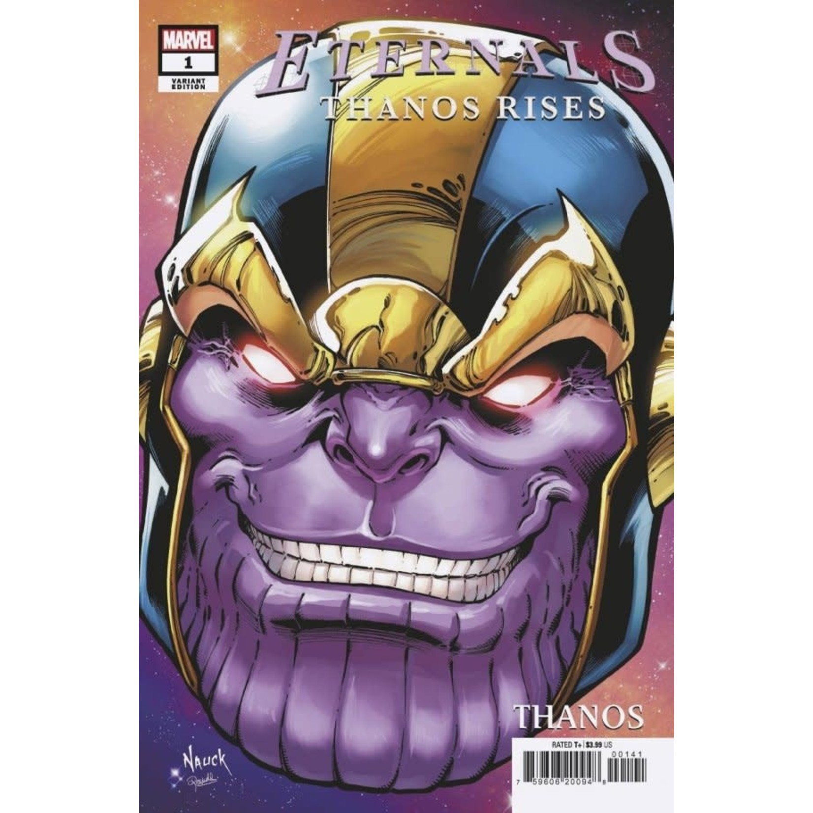 Eternals: Thanos Rises #1 Nauck Headshot Variant