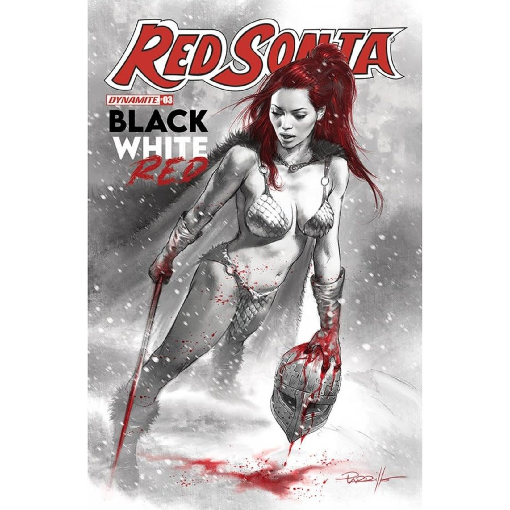 Dynamite Red Sonja: Black, White, Red #3