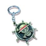 ONE PIECE Keychain Deluxe - Luffy Logo wheel