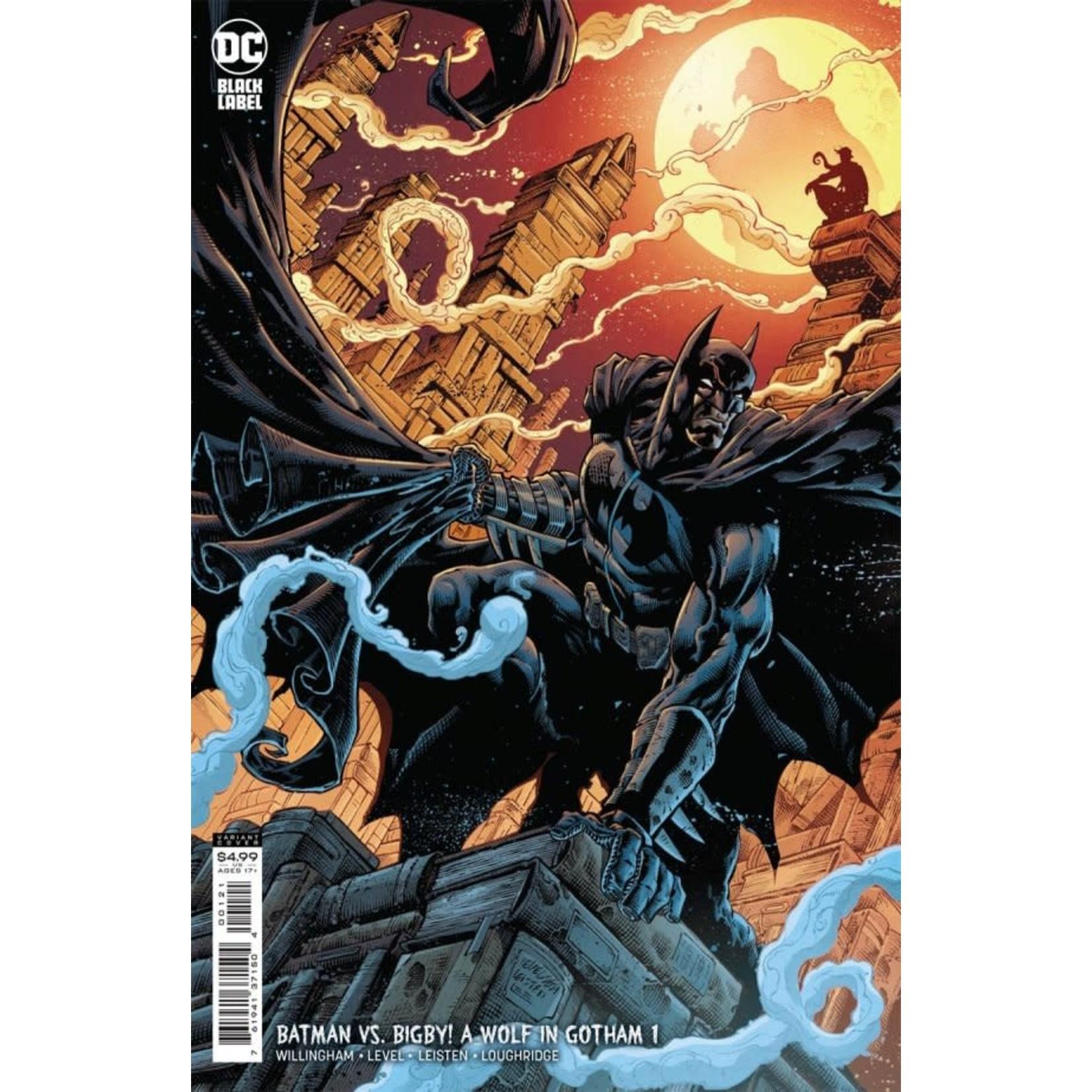 DC Comics Batman vs. Bigby! A Wolf in Gotham #1 Cover B Level & Leisten Card Stock Variant