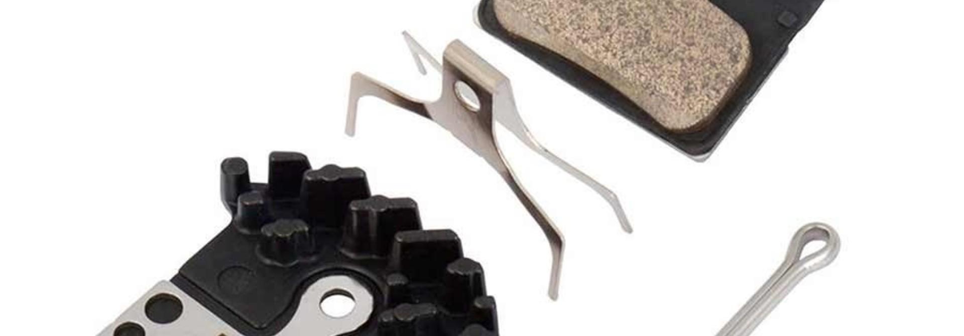Shimano, D02S, 4 Piston Disc brake pads, Metal, Pair, D type, 4-piston