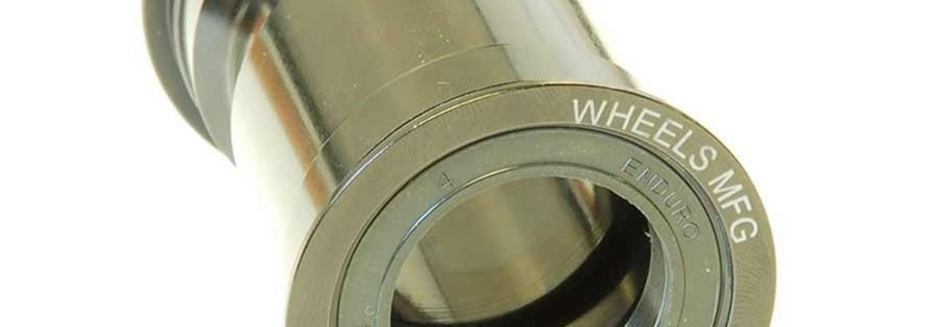 Wheels Manufacturing, Pressfit 30 bottom bracket, 68/73mm, 46mm, 30mm, Steel, Black, PF30-BB