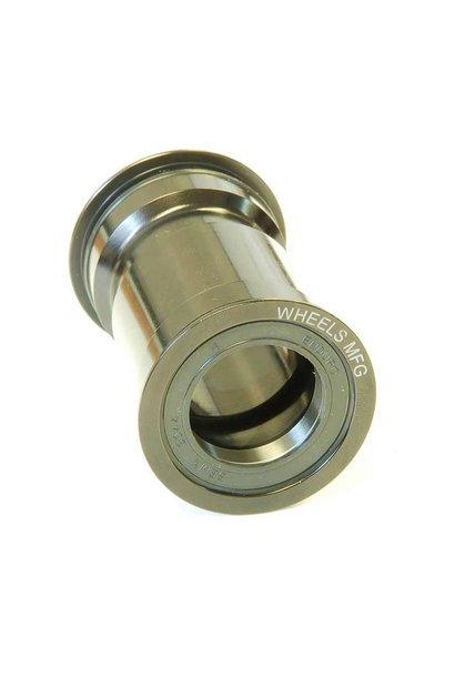Wheels Manufacturing, Pressfit 30, 68/73mm, 46mm, 30mm, Steel, Black, PF30-BB, Bottom Bracket