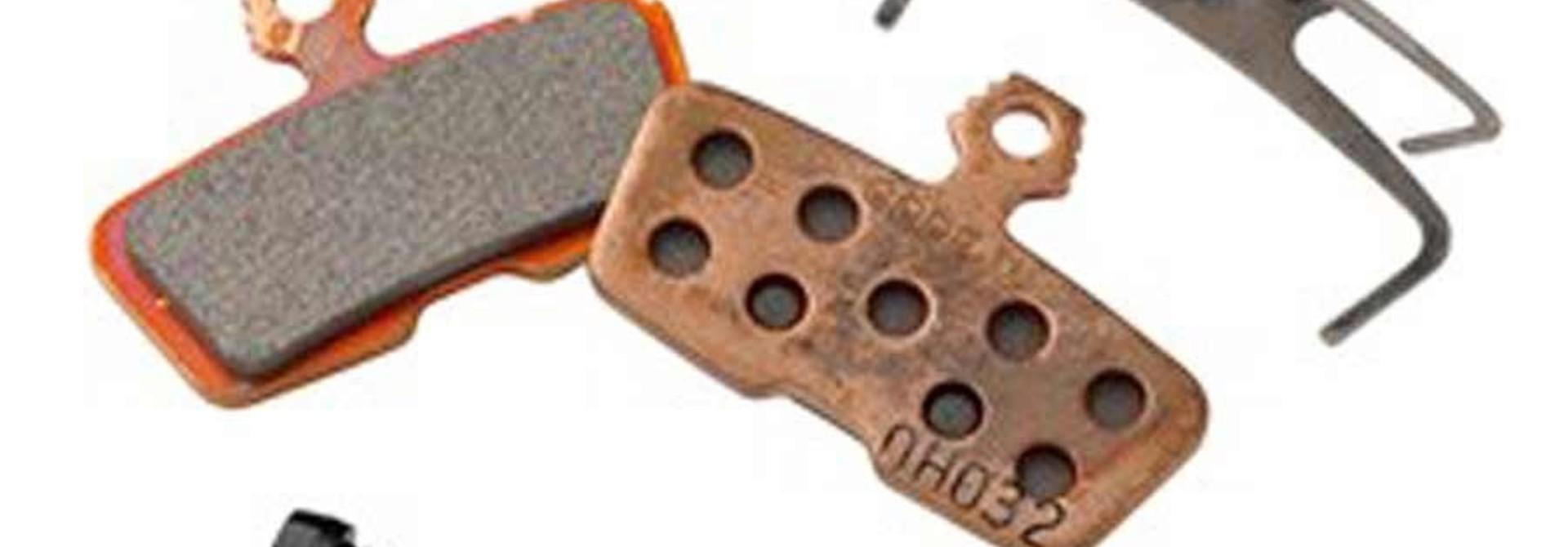 SRAM, Disc Brake Pads, Shape: Avid Code 2011+, Metallic, Pair