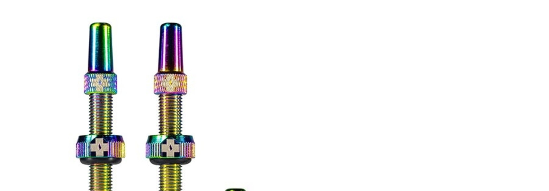 Muc-Off, Tubeless Valve, Presta, 44mm, Iridescent , Pair