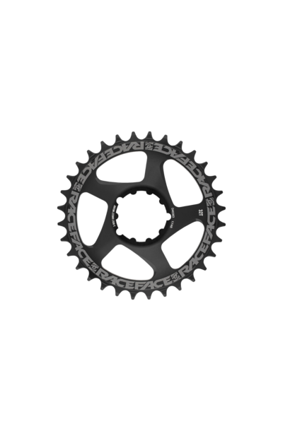 Race Face, DM Chainring, Black, 10-12s, 3-Bolt Compatible, (Not compatible with Shimano 12sp)