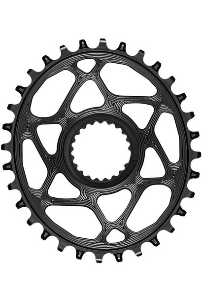 absoluteBLACK Oval Direct Mount Chainring - 32t, Shimano Direct Mount, 3mm Offset, Requires Hyperglide+ Chain, Black