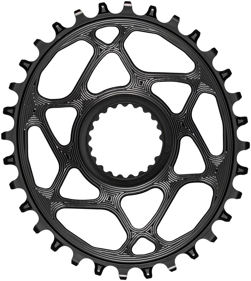 absoluteBLACK Oval Direct Mount Chainring - 32t, Shimano Direct Mount, 3mm Offset, Requires Hyperglide+ Chain, Black-1