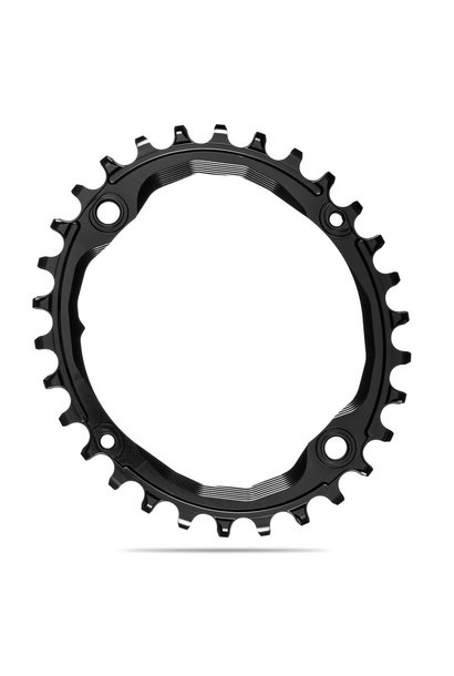 absoluteBLACK Oval 104 BCD Chainring - 32t, 104 BCD, 4-Bolt, Narrow-Wide, Black
