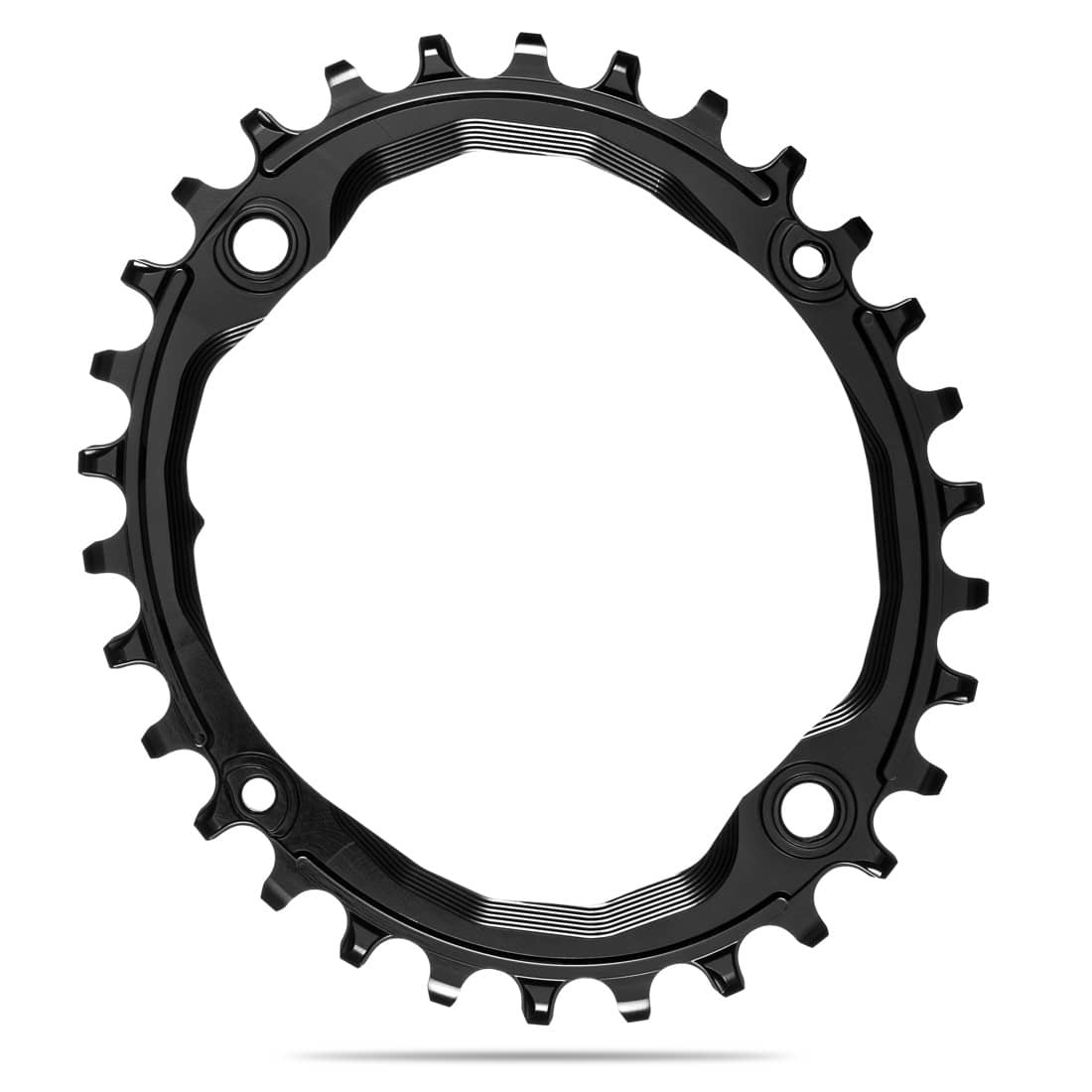 absoluteBLACK Oval 104 BCD Chainring - 32t, 104 BCD, 4-Bolt, Narrow-Wide, Black-1