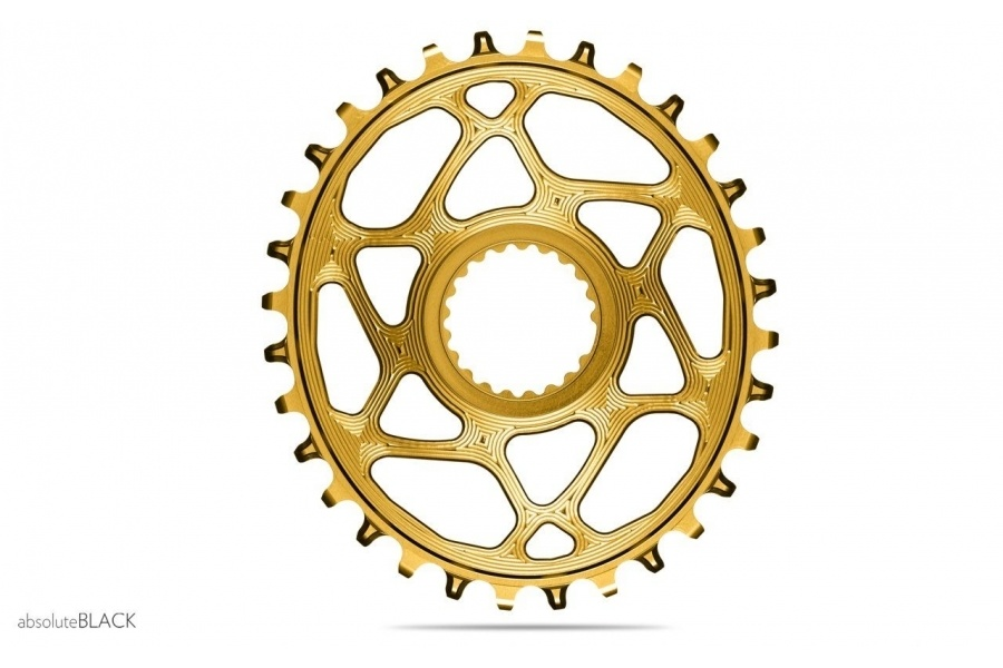 absoluteBLACK, Oval Narrow Wide, Direct Mount Chainring, SRAM 3-Bolt Direct Mount, 3mm Offset-3