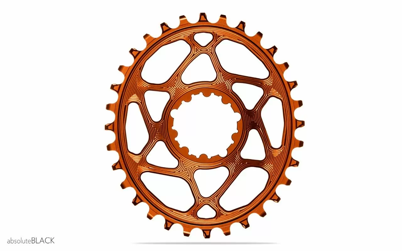 absoluteBLACK, Oval Narrow Wide, Direct Mount Chainring, SRAM 3-Bolt Direct Mount, 3mm Offset-4