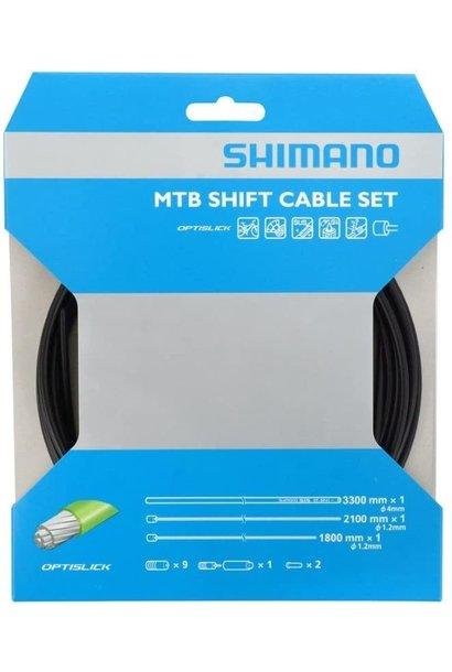 Shimano, MTB 1x Shift Cable Set, Optislick, 2000mm, Black, Shimano/SRAM, Set