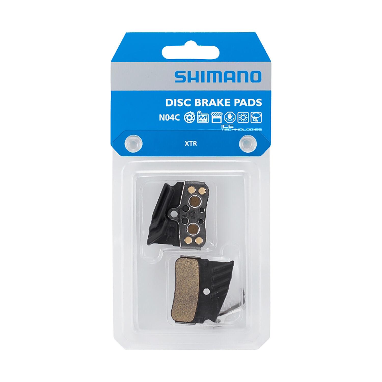 Shimano, N04C, Disc Brake Pads, Shape: Shimano N-Type, Metallic, Pair, 4-piston-1