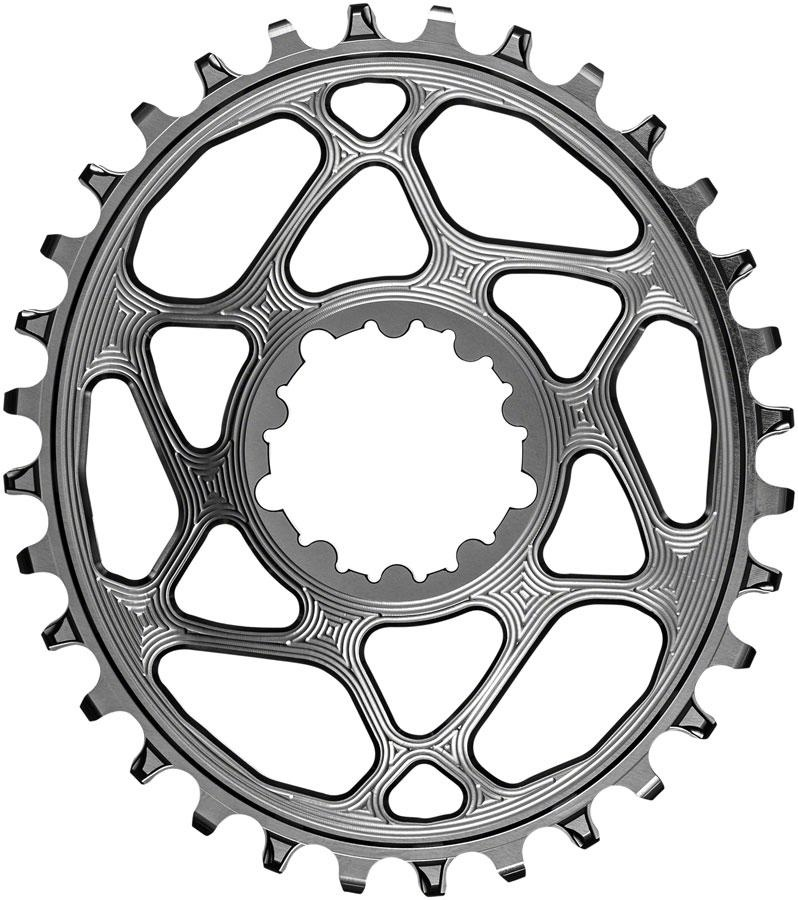 absoluteBLACK, Oval Narrow Wide, Direct Mount Chainring, SRAM 3-Bolt Direct Mount, 3mm Offset-6