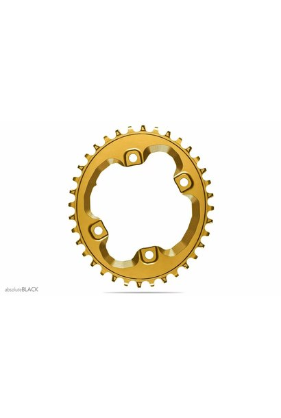 absoluteBLACK Oval 96 BCD Chainring for Shimano XT M8000, 96 Shimano Asymmetric BCD, 4-Bolt, Narrow-Wide