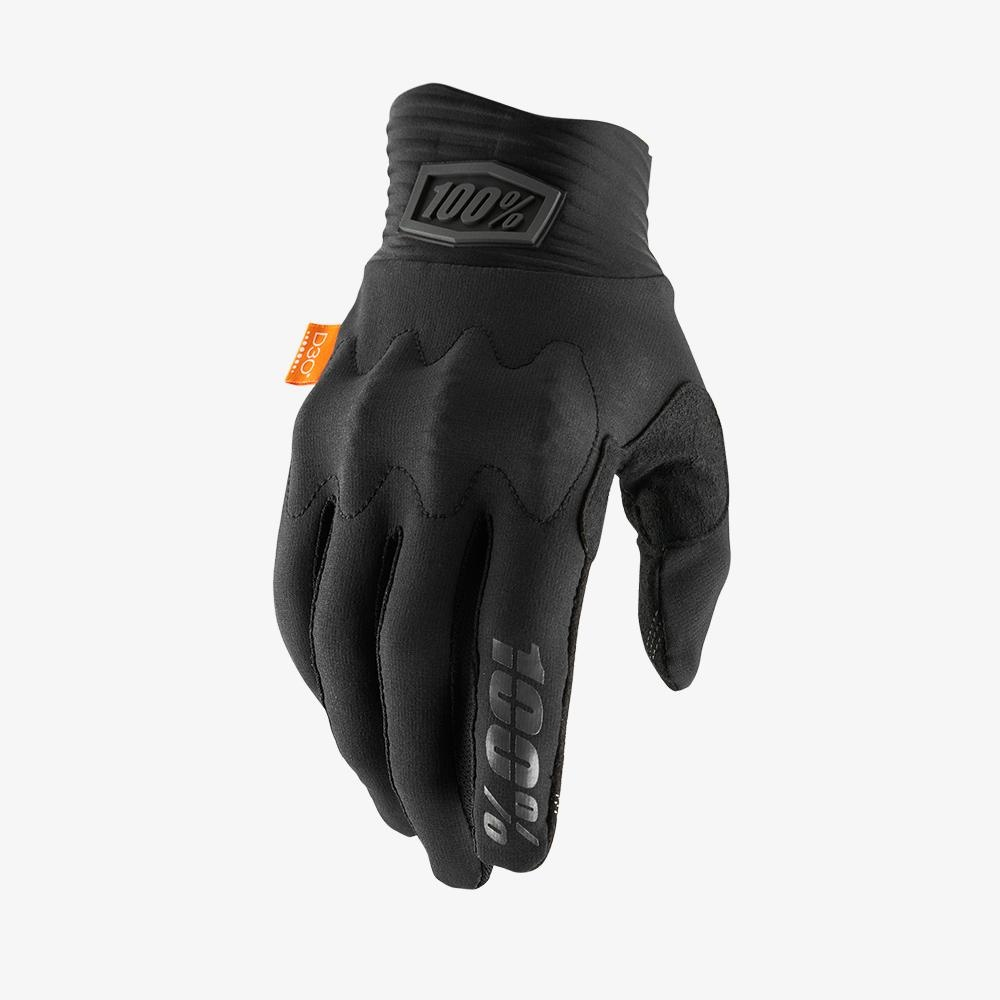 100% Cognito Gloves, Black/Charcoal-1
