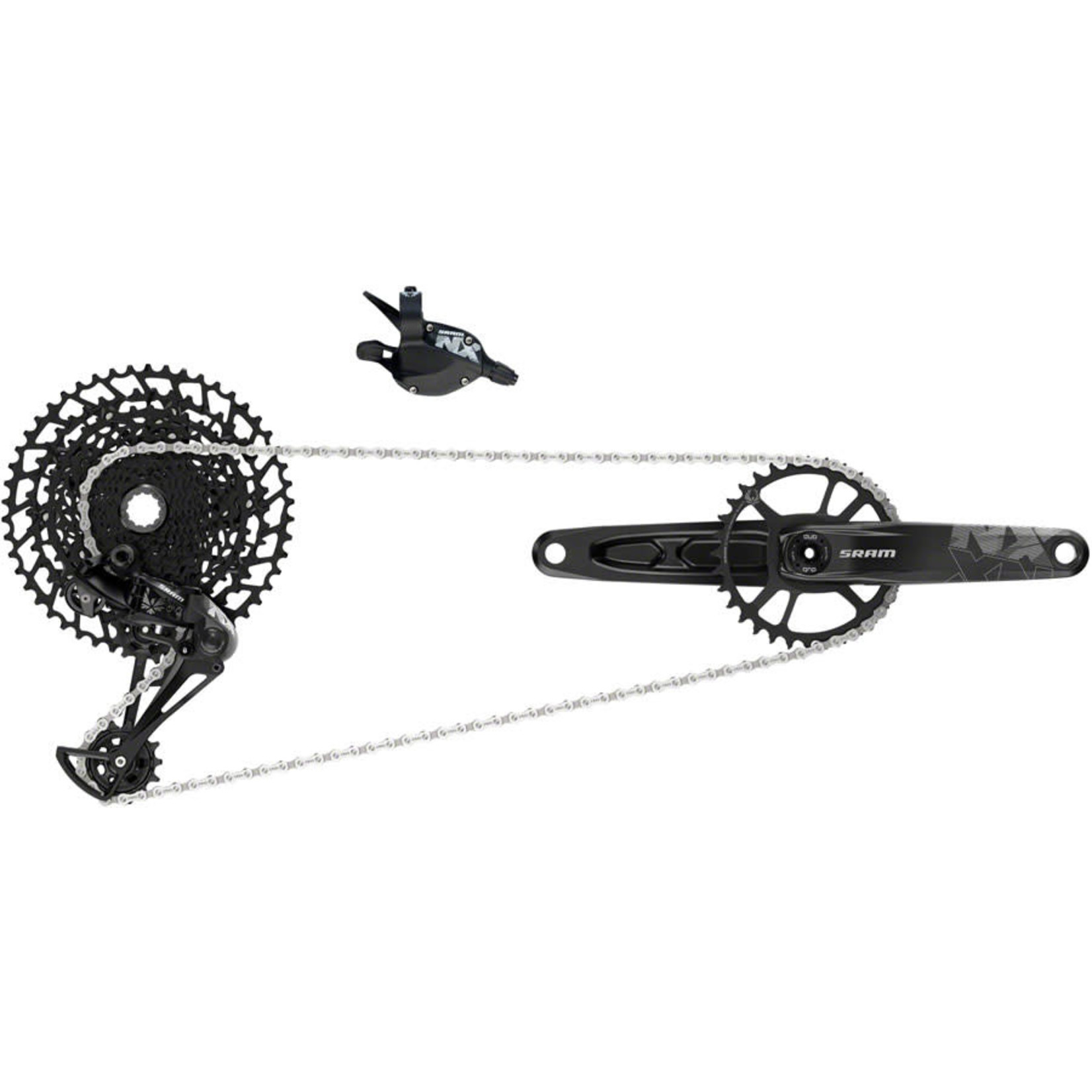 SRAM SRAM NX Eagle Groupset: 170mm 32 Tooth DUB Boost Crank, Rear Derailleur, 11-50 12-Speed Cassette, Trigger Shifter, and Chain