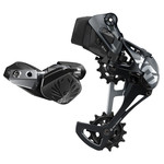 SRAM SRAM X01 Eagle AXS Upgrade Kit - Rear Derailleur for 10-52t, Battery, Eagle AXS Controller w/ Clamp, Charger/Cord, Lunar Black