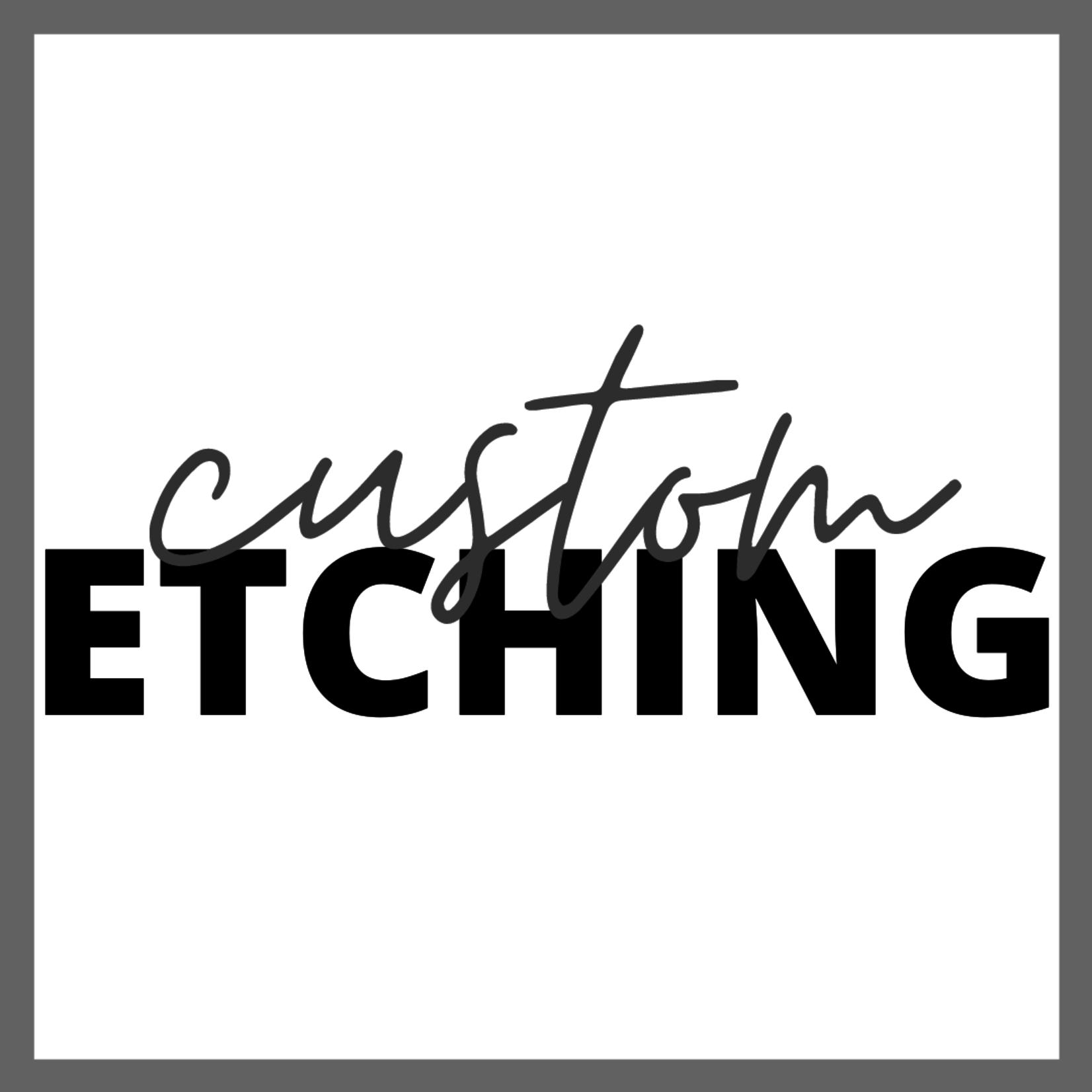 Yeti Custom Etching
