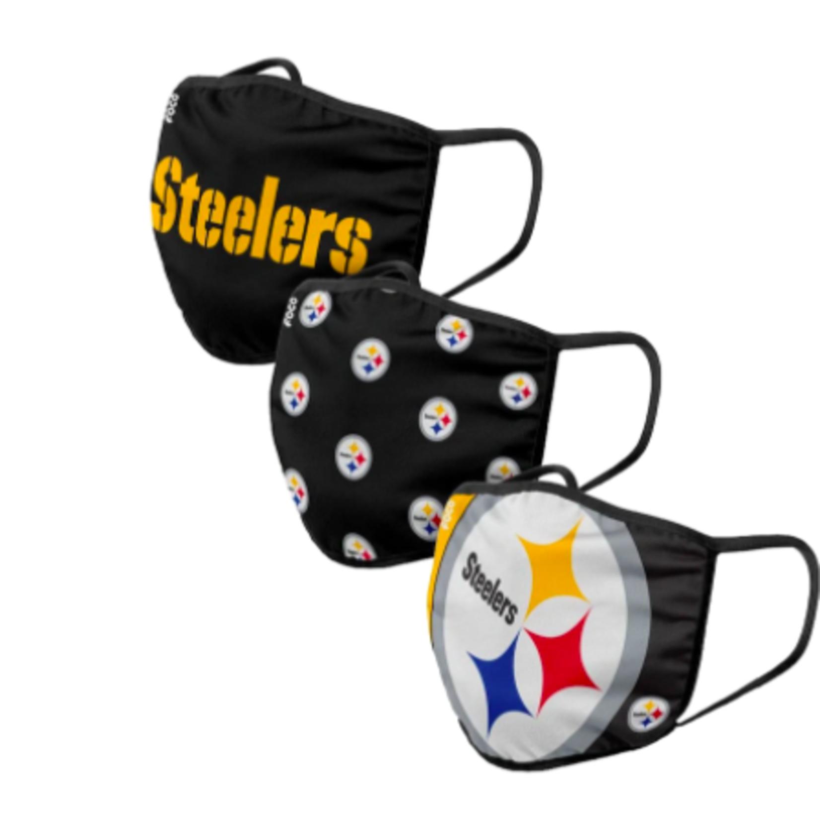 NFL Branded 3pk Face Masks