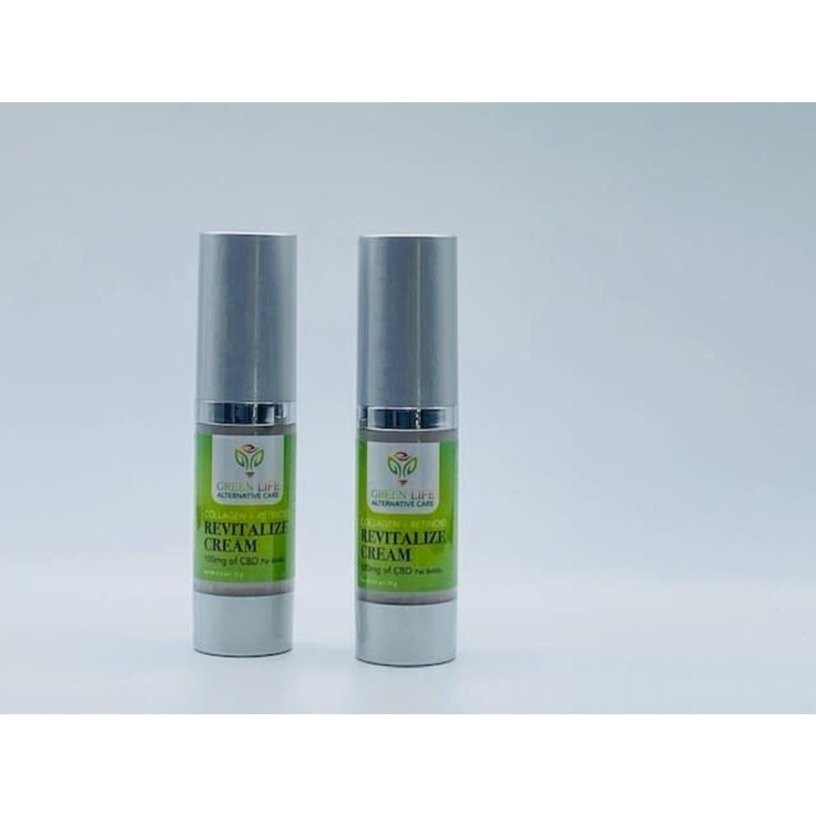 GLAC Green Life CBD Revitalizing Cream Collagen + Retinoid 100mg