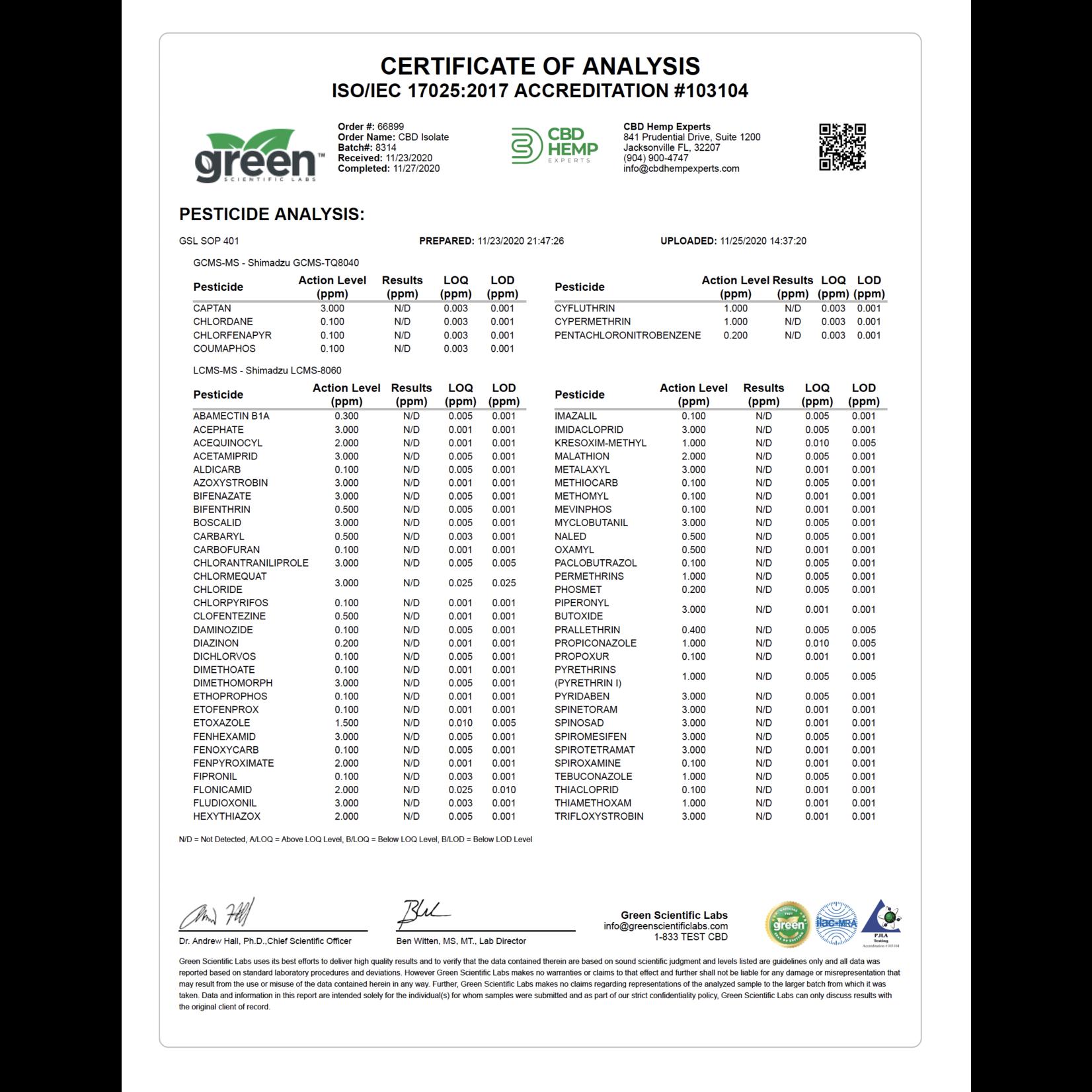 GLAC Green Life Ageless Care Orange CBD 100mg