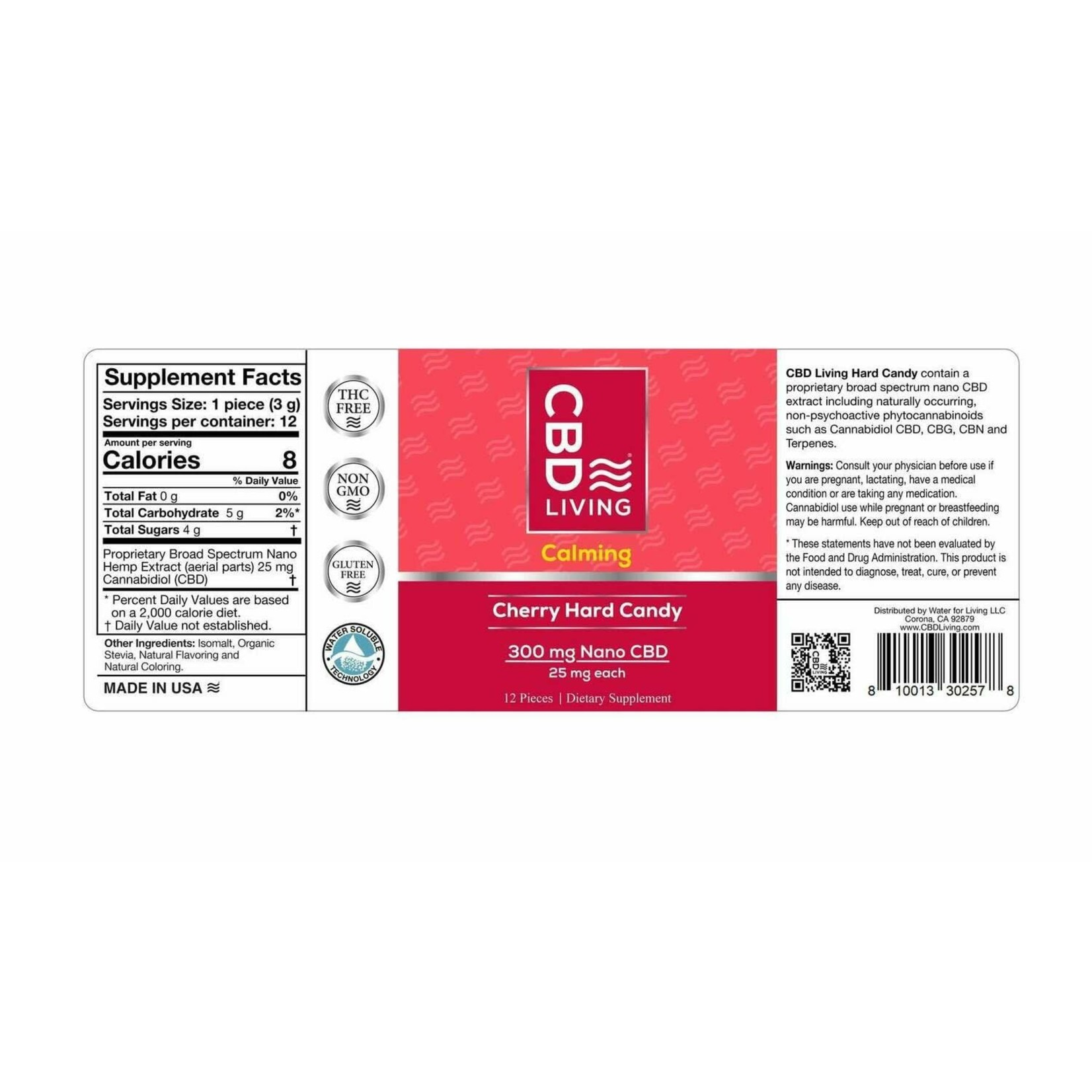 CBD Living CBDL Hard Candy Cherry (Per Piece) (25mg)