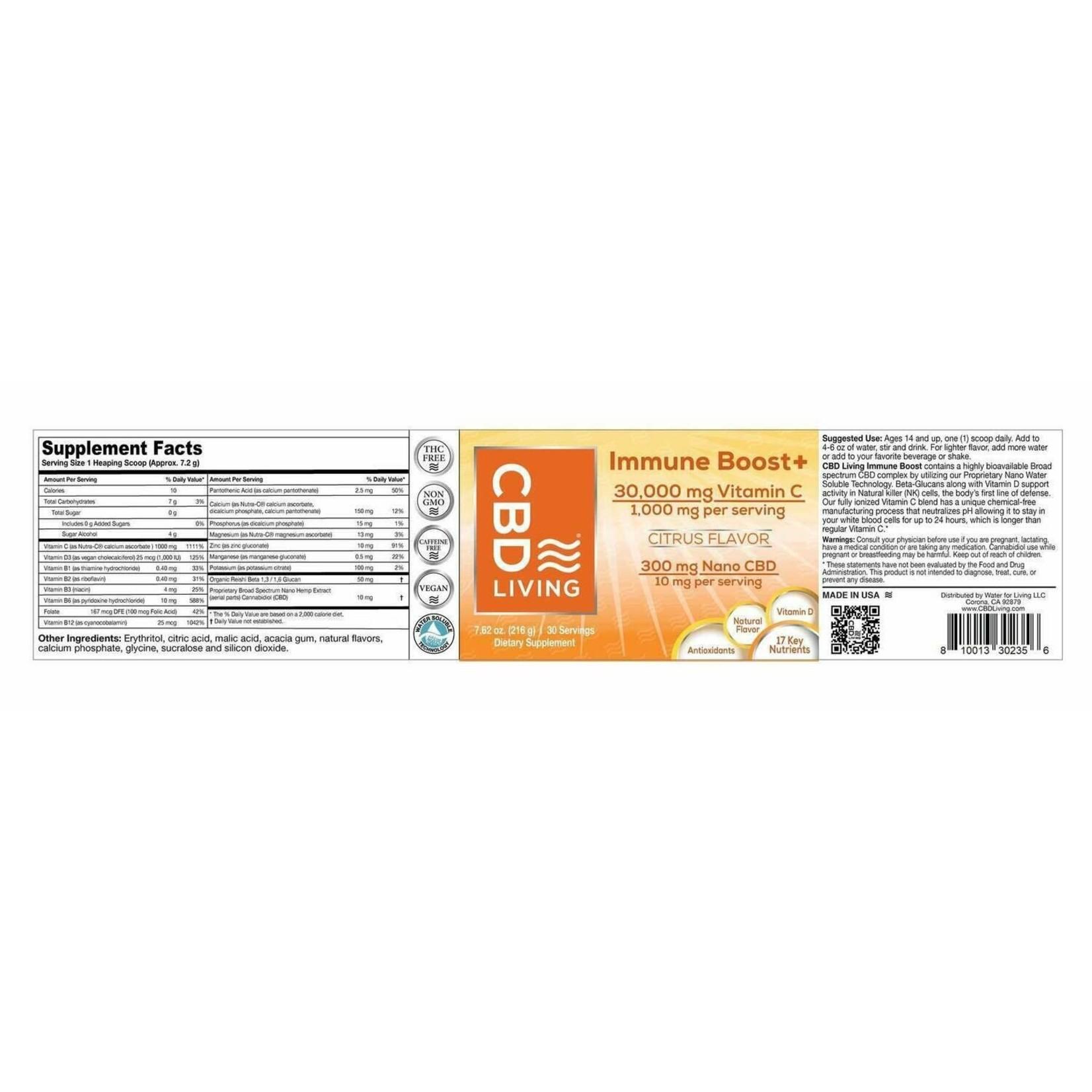 CBD Living CBDL Immune Boost 1000mg Citrus