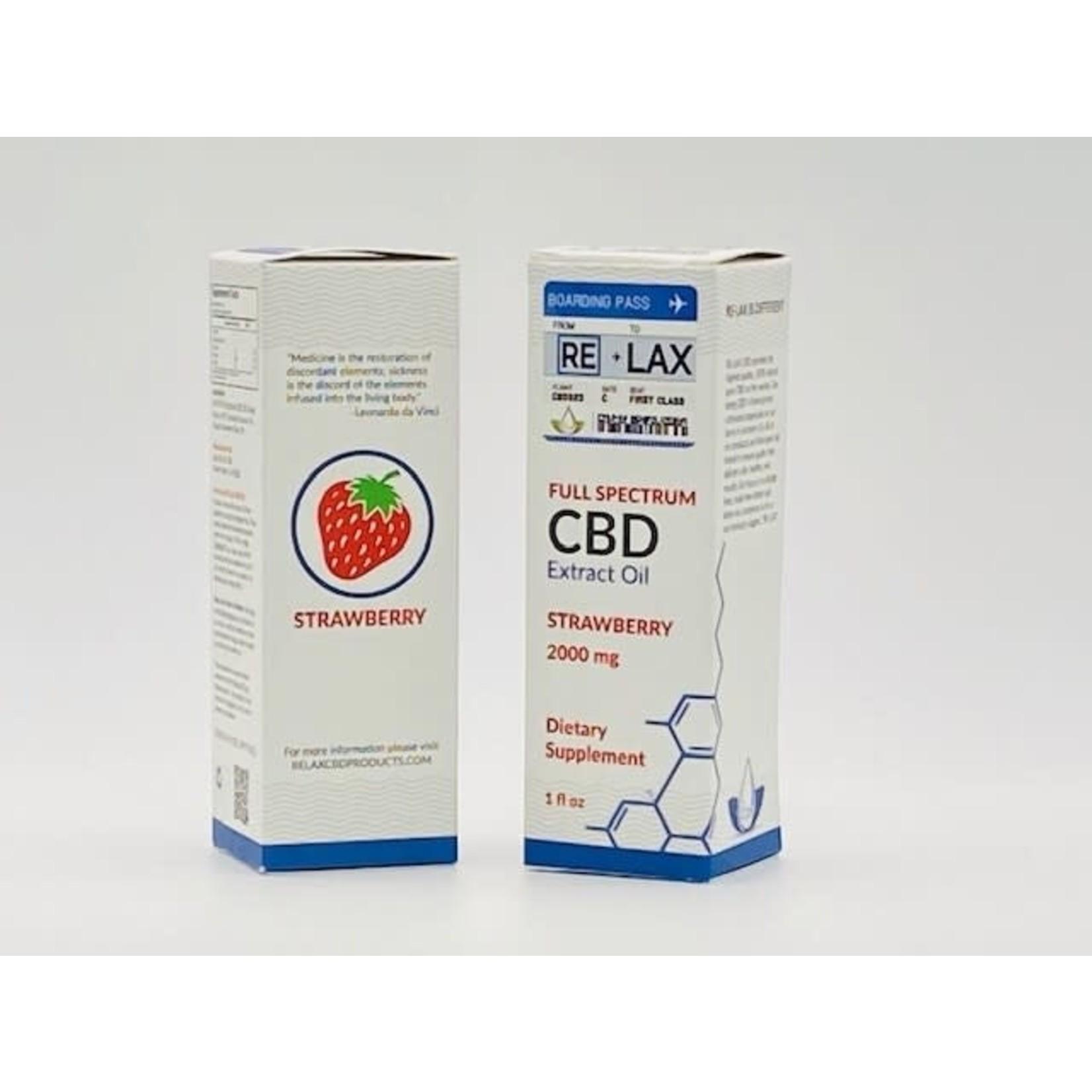 RE-LAX CBD RLX CBD Strawberry Tincture
