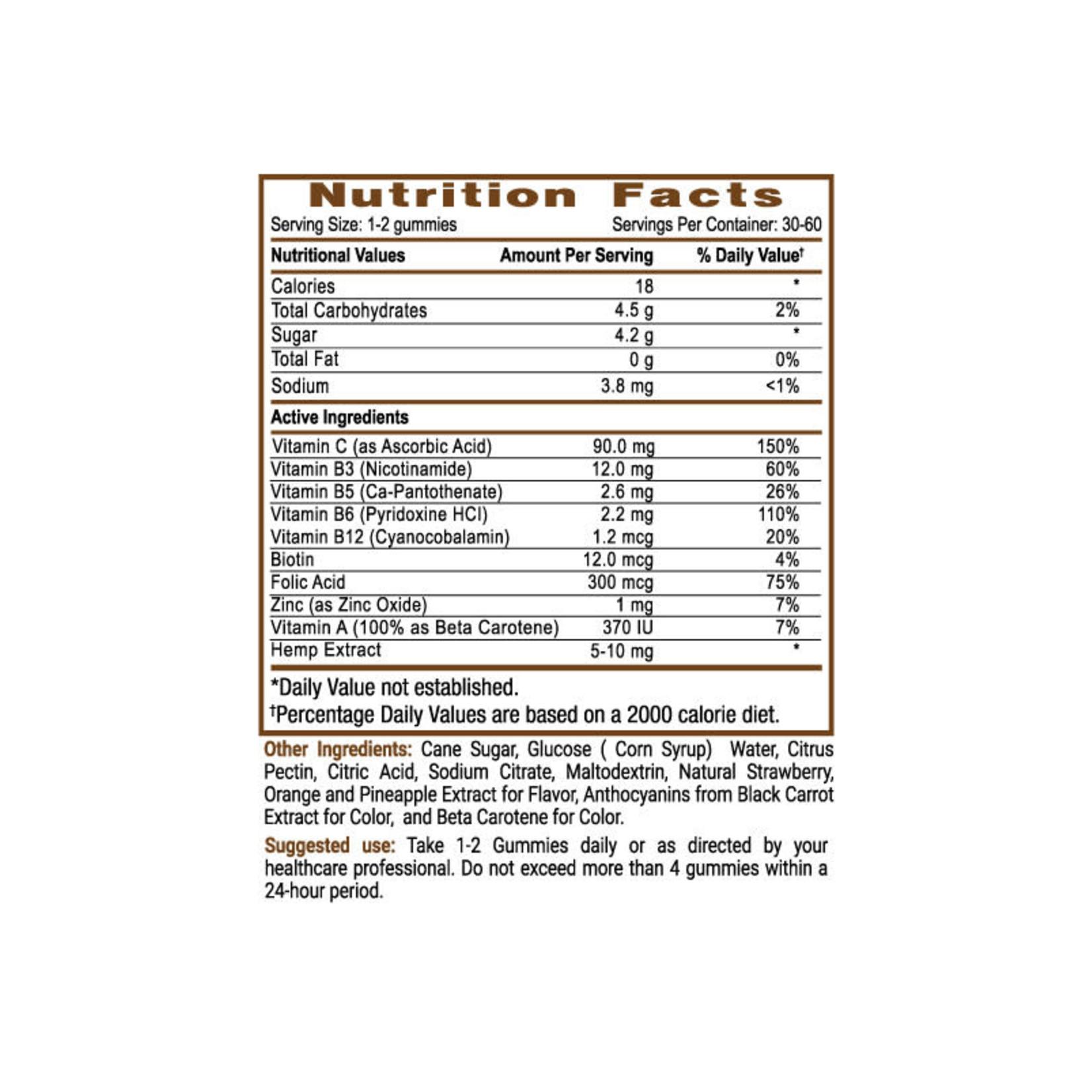 Sun State Hemp SSH CBD Multi Vitamin Gummies 300mg Mix