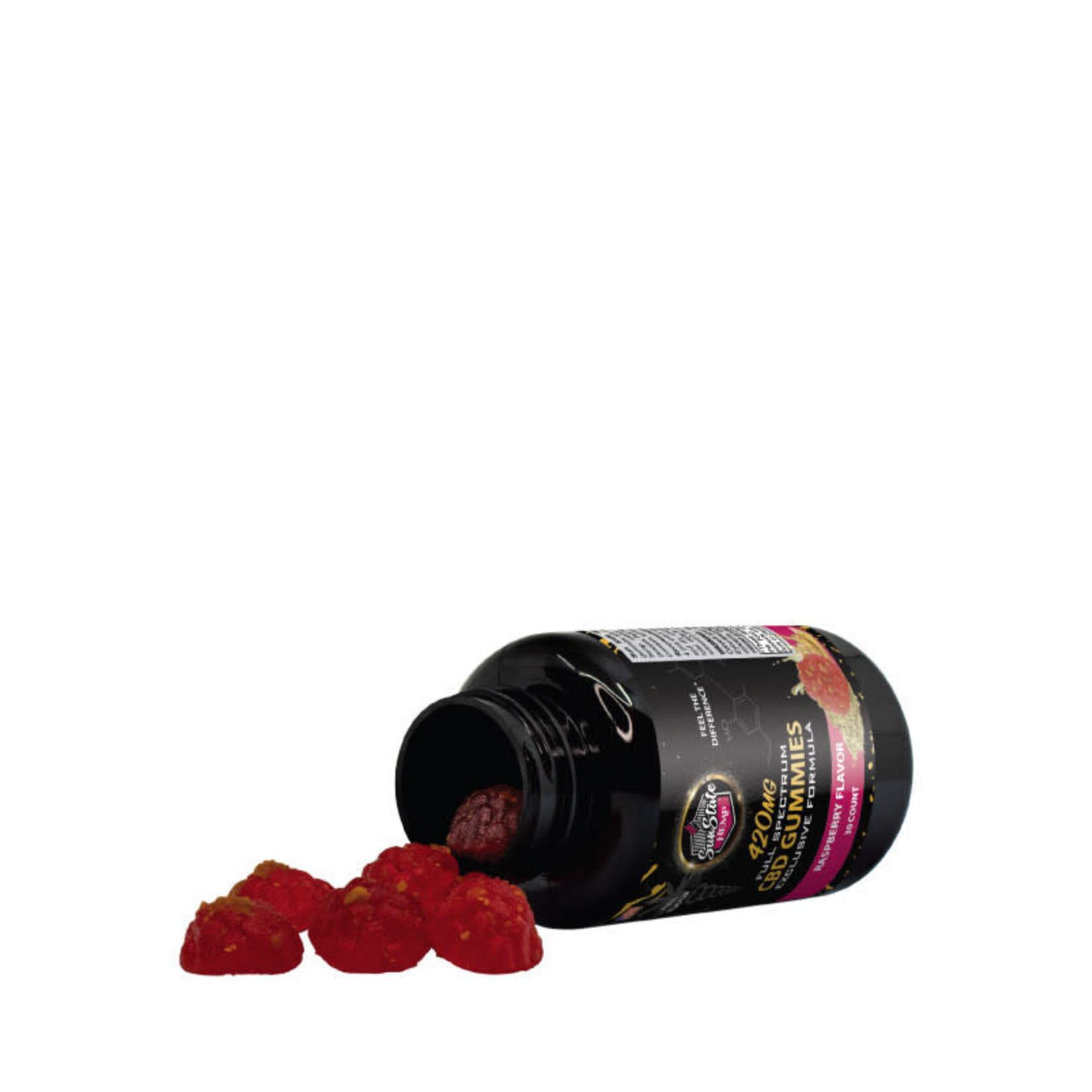 Sun State Hemp SSH Full Spectrum CBD Exclusive Form Raspberry Gummy 420mg