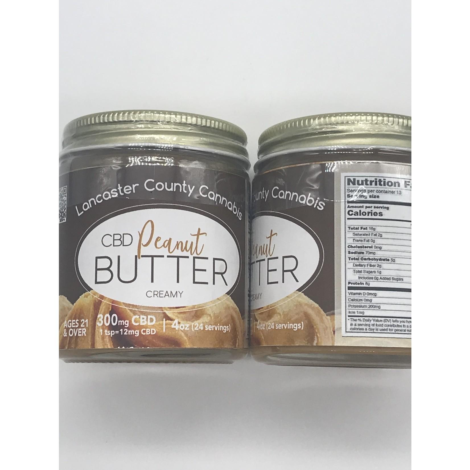 Lancaster County Cannabis LCC 300mg Peanut Butter 4oz.