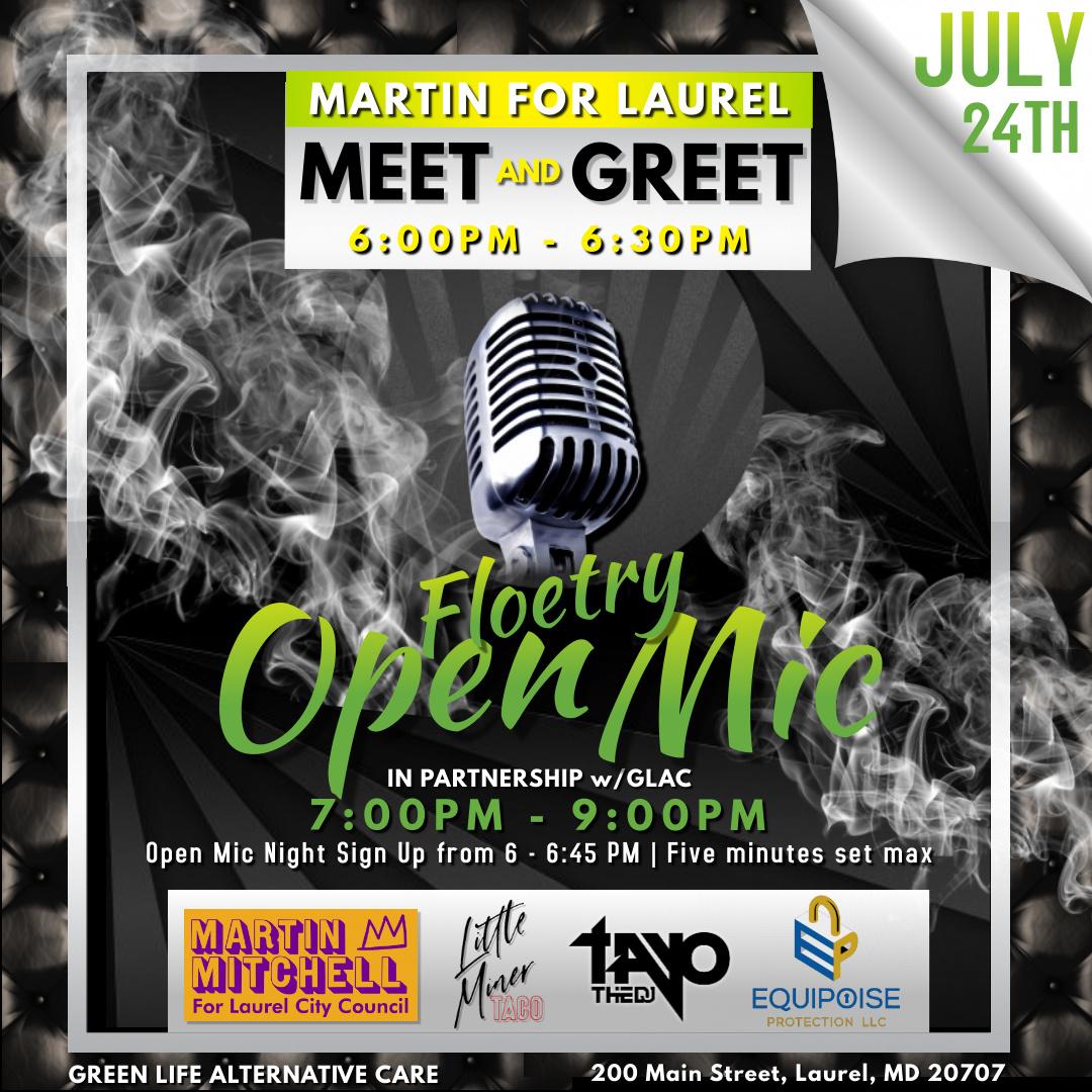 CBD Laurel, 20707 Event Open Mic Night