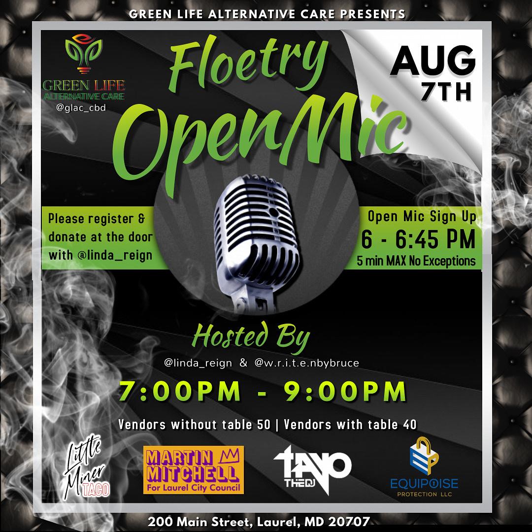 CBD in Laurel 20707 Open Mic Event