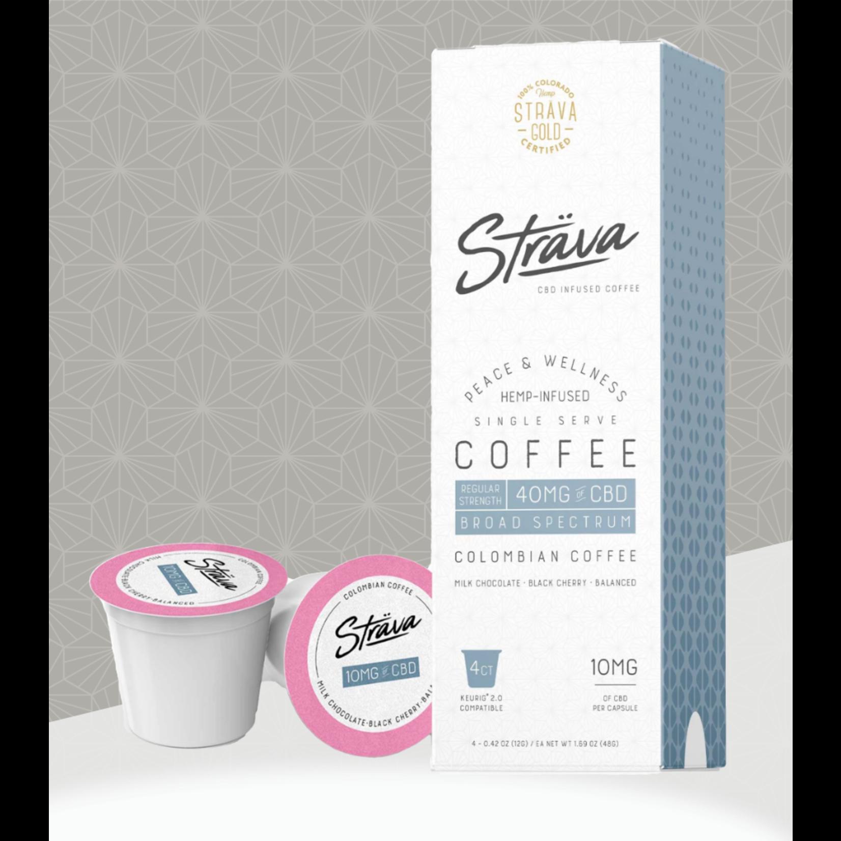 Strava Strava CBD Infused Coffee 40mg Broad Spectrum  Single Serve Keurig cup Regular Strength