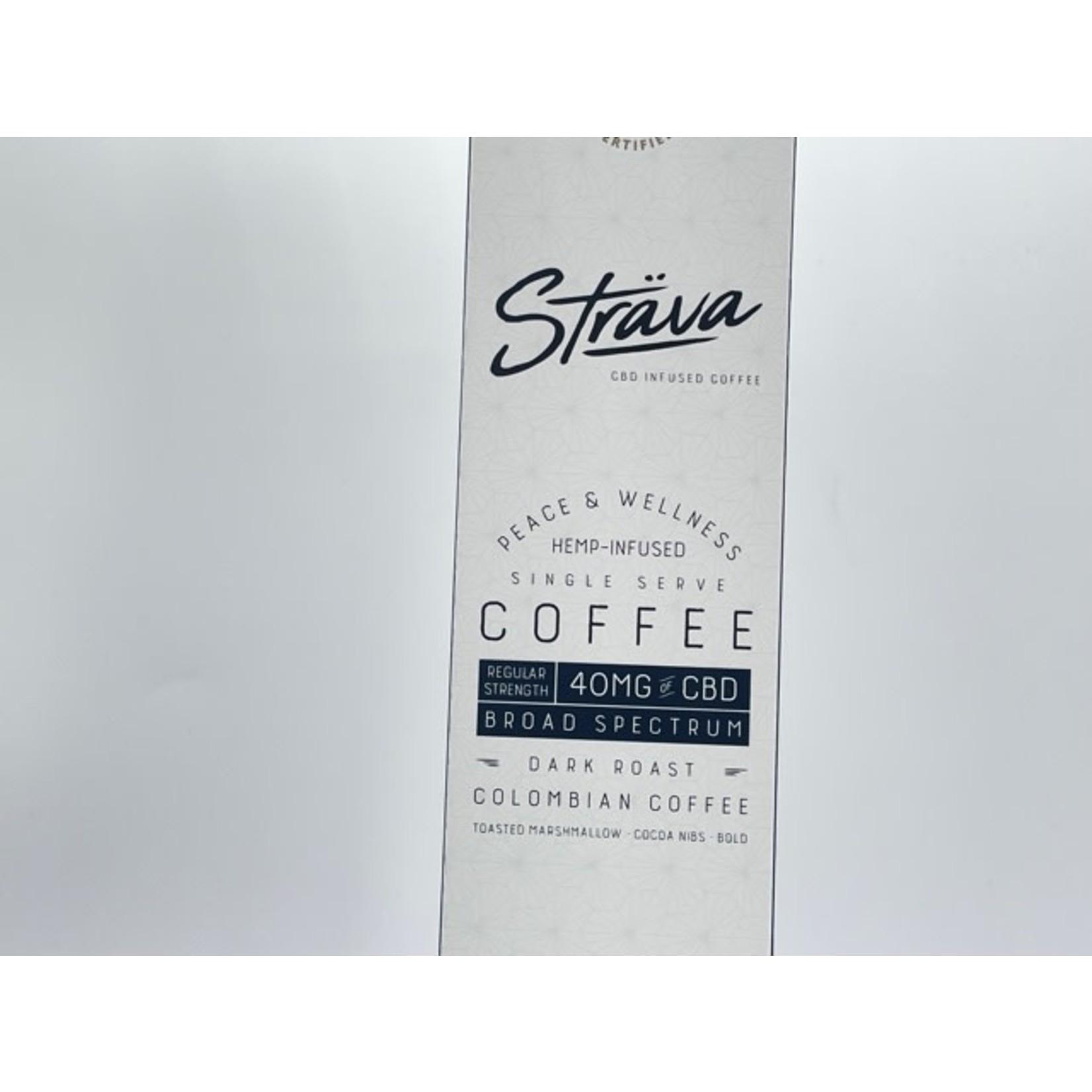 Strava Strava CBD infused Coffee 40mg Broad Spectrum Dark Roast Regular Strength Single Serve  Keurig Cup