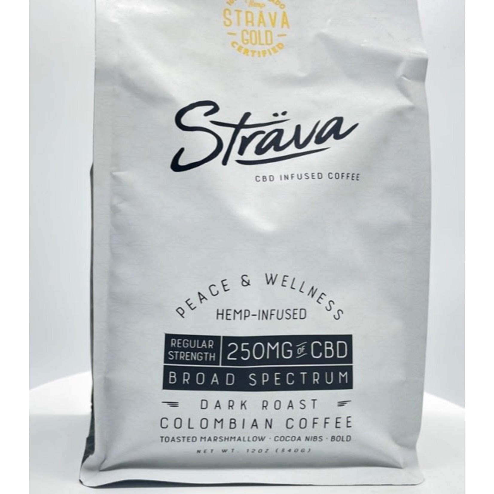 Strava Strava CBD Infused Coffee 250mg Broad Spectrum Dark Roast Regular Strength